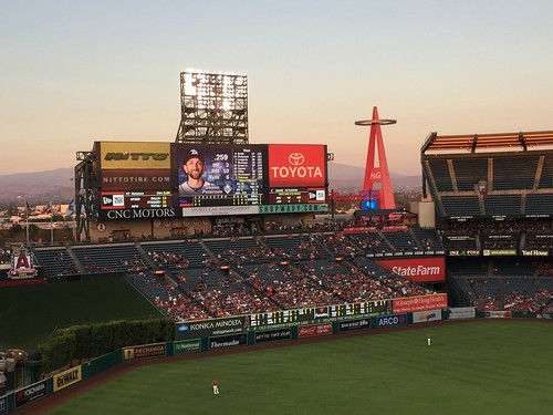 Angel Stadium Scoreboard