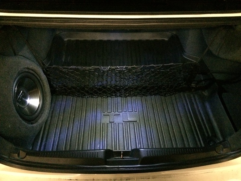 my first audio install - front components, amp, and corner trunk sub