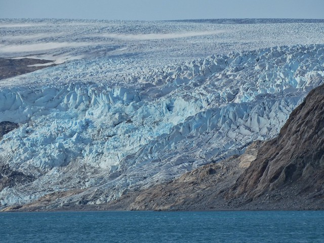El glaciar Qaleraliq en un evidente retroceso