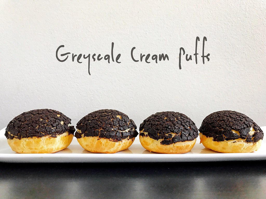 The Cooking of Joy: Greyscale Cream Puffs