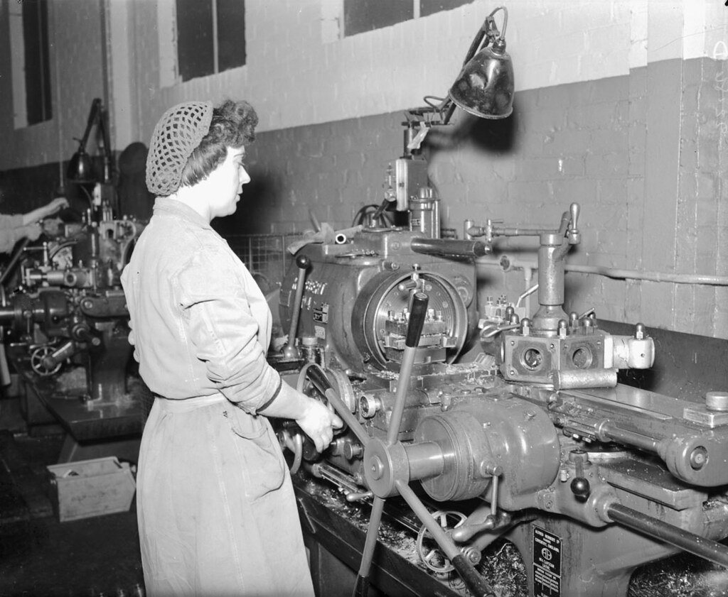 Woman operating a capstan lathe at the elswick works flickr woman operating a capstan lathe at the elswick works by tyne wear archives gumiabroncs Gallery