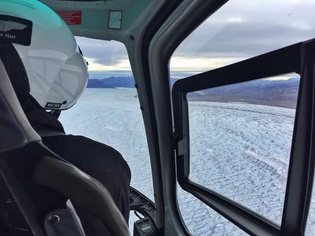 Glaciar Qorqup desde un helicóptero (Groenlandia)