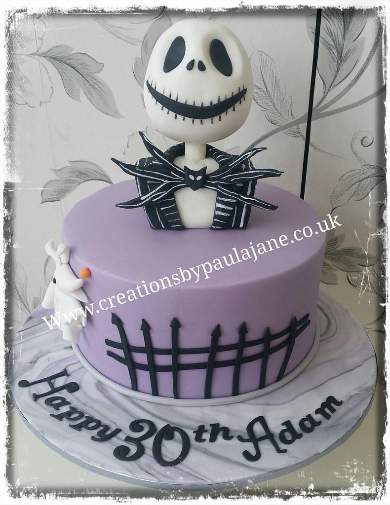 Jack Skellington Birthday Cake Paula Town Flickr