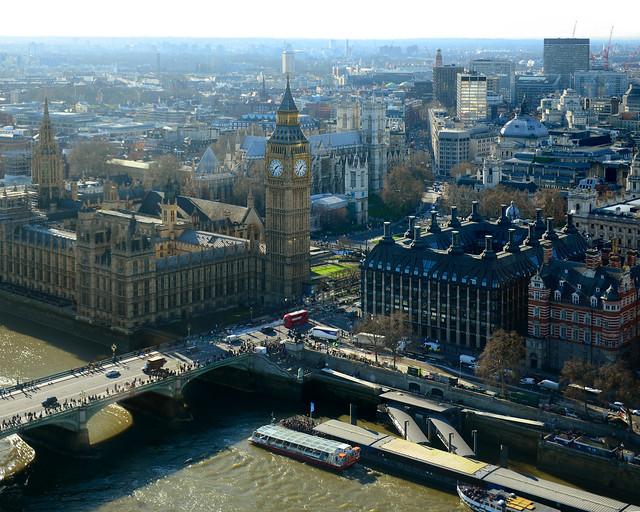 Vistas del BigBen desde el London Eye