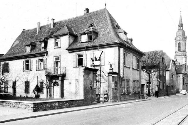 Edinger Barock-Schlössel in der Hauptstraße, Archivaufnahme 1960er-Jahre