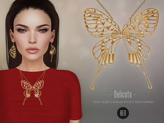 BEO - Delicate necklace v.2 & set earrings | by BEO - SL