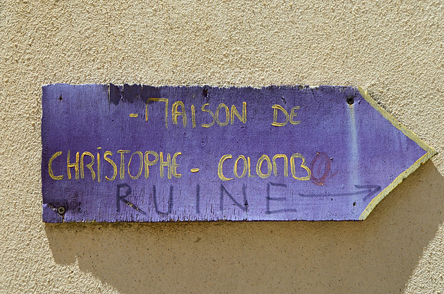 Columbus sign, Citadel, Calvi, Corsica