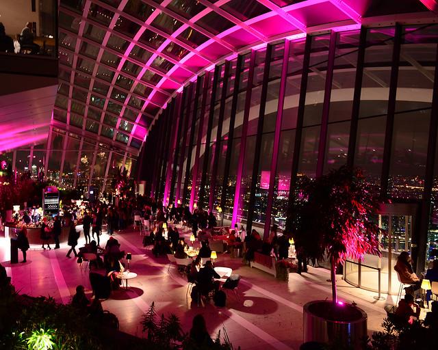 El mirador del Skygarden, uno de los mejores miradores que ver en Londres