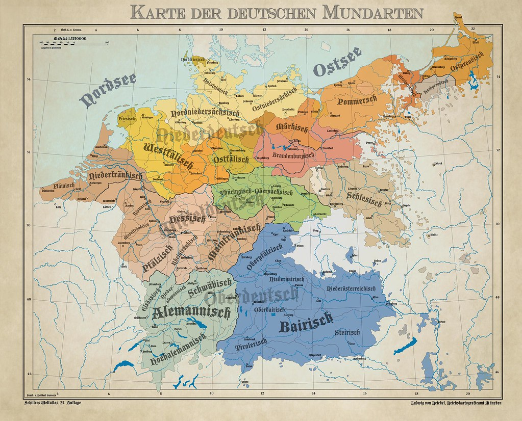 Dialects from the German Language area (1900)