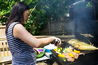 Chef Erica Grilling Lunch (July 12, 2011) | by reimagingerica
