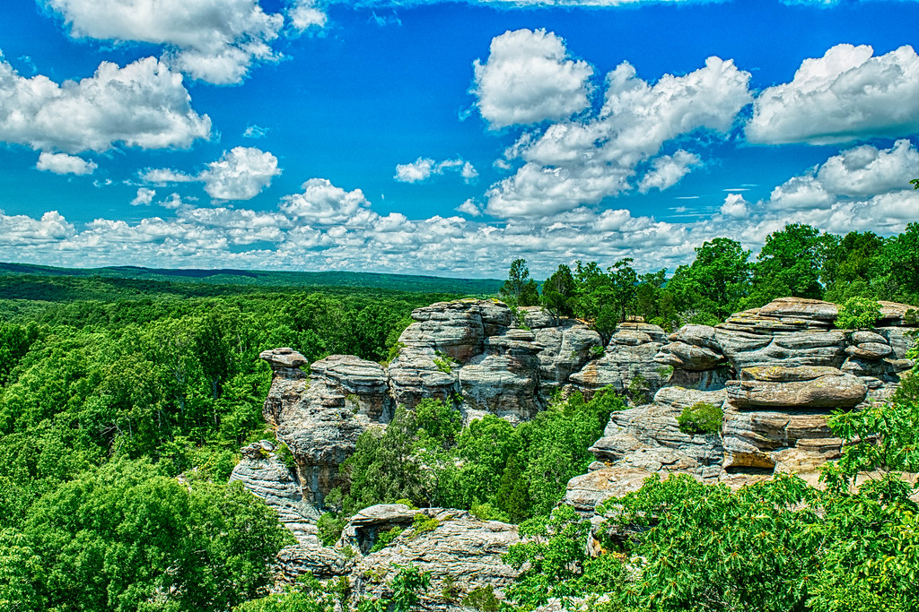 Southern Illinois countryside, from Garden of the Gods.   Flickr