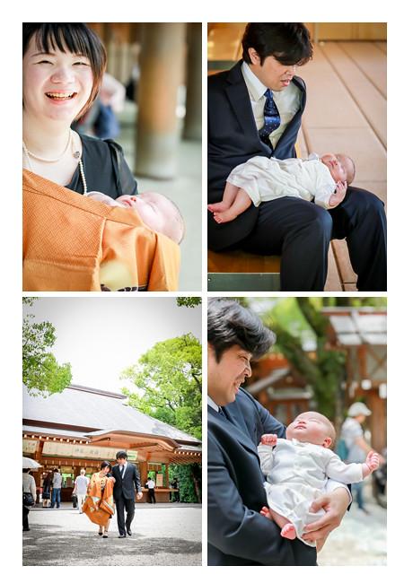 熱田神宮でお宮参り(名古屋市)のロケーション撮影写真 家族写真 着物 男の子の100日参り 人気 オススメ