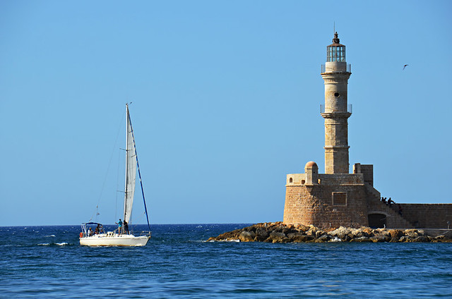 Egyptian Lighthouse, Chania old town, Crete
