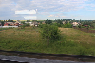 View from the train to Dnipro just outside Kharkiv | by Timon91