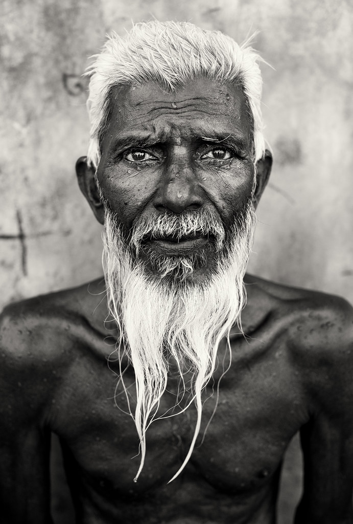 Black And White Portrait Old Man