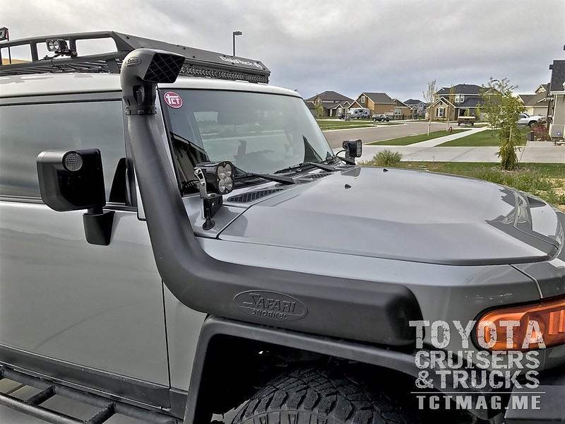 CUT IT!  FJC Safari Snorkel Install