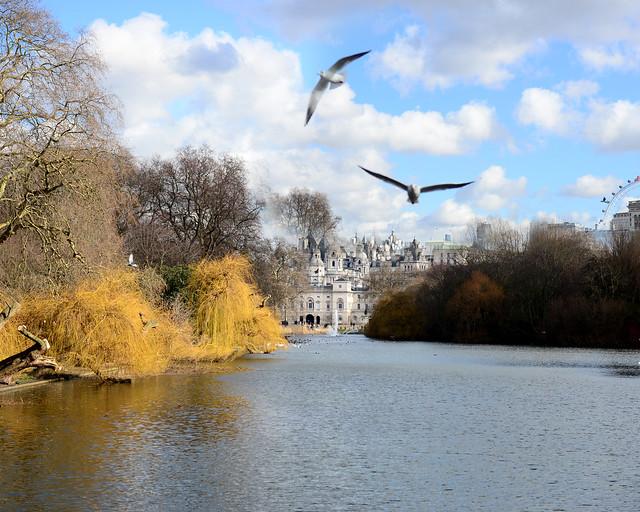 Preciosa estampa de Londres entre parques y gaviotas
