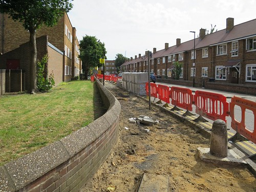Re-laying the broken pavements in Circular Road | by Alan Stanton