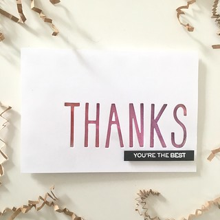 CAS thank you card | by Kimberly Toney