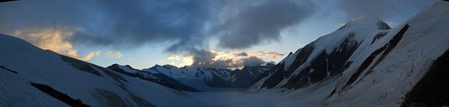 View from the Hollandia Hut (3235m).