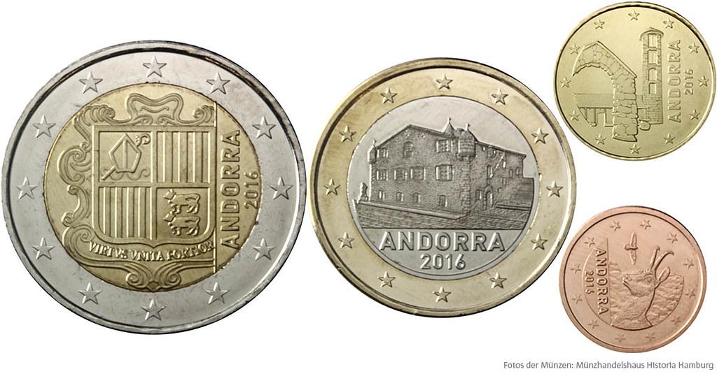 Euro Münzen Andorra Nationale Rückseiten Der Euro Münzen Flickr