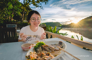 Sunset Dinner by the Mekong River | by reubenteo