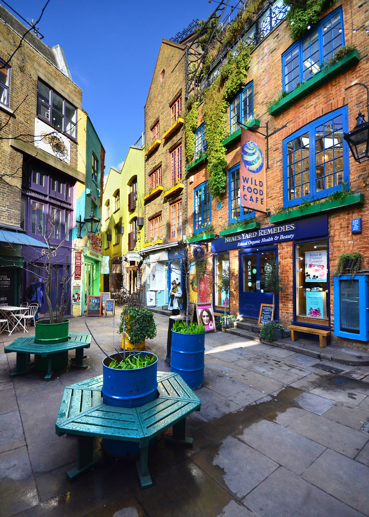 Neals Yard, una de las calles más bonitas que ver en Londres