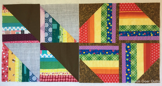 Kids Quilt Round Robin KQRR rainbow stripes