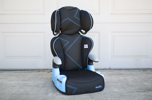 black and blue baby car booster seat | by yourbestdigs
