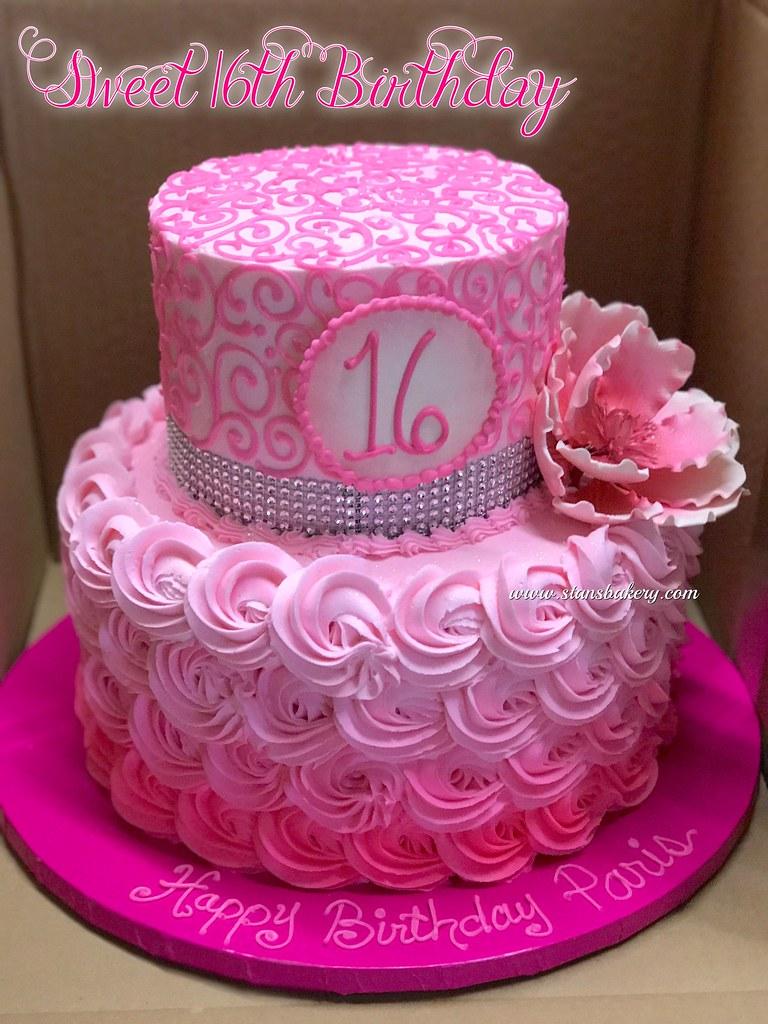 Sweet 16th Birthday Cake Stans Northfield Bakery Flickr