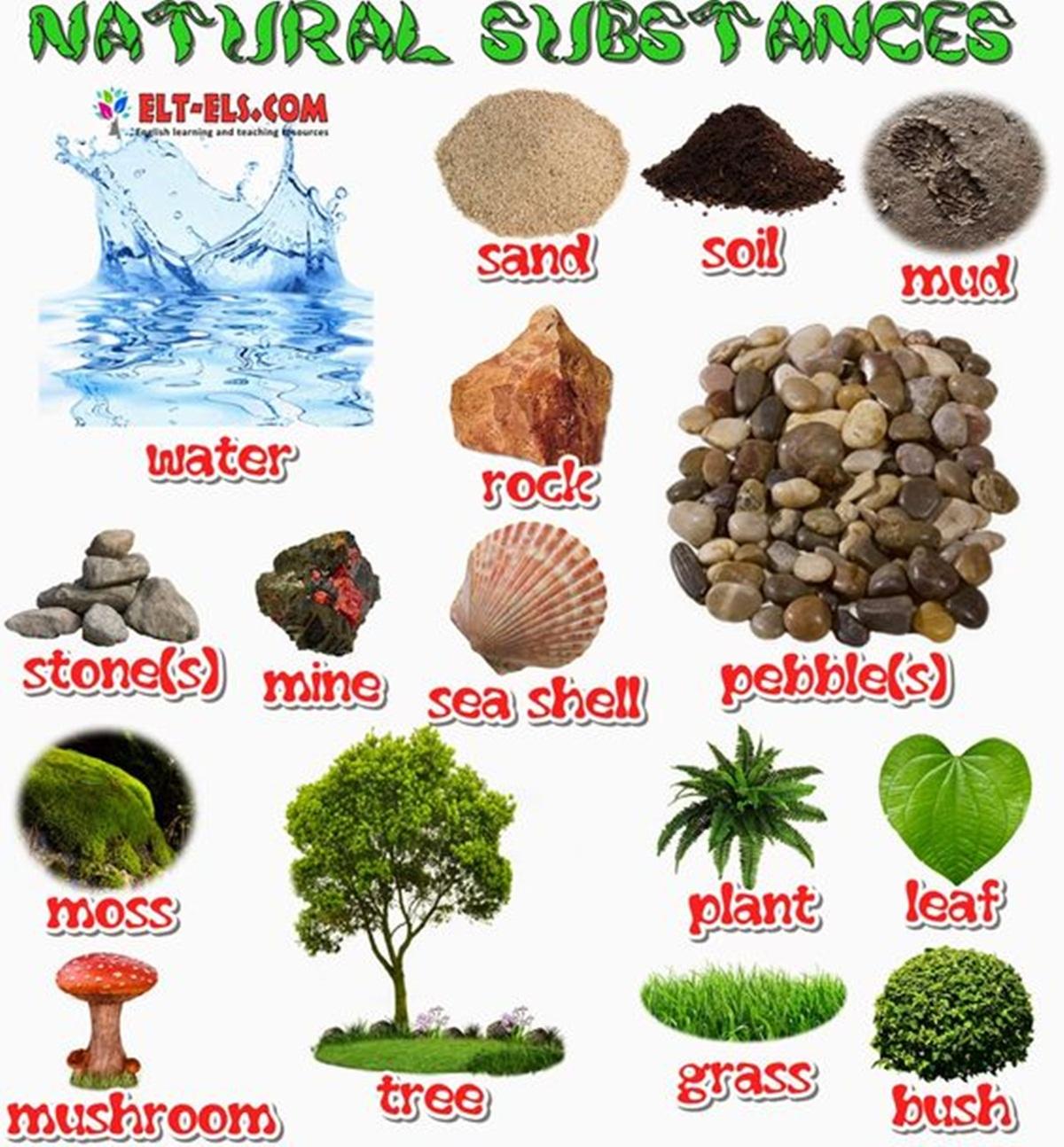 Vocabulary: NATURAL SUBSTANCES 3