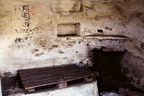Vandalized shelter by Nana Agrimi on Flickr