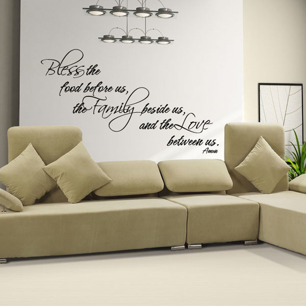 Bless The Food Family Love Amen Wall Decal Kitchen Jesus Bible Quote Vinyl Decor Ebay