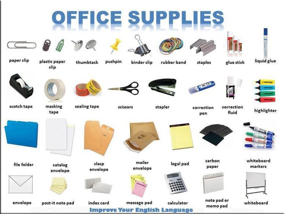 Vocabulary: OFFICE SUPPLIES 3