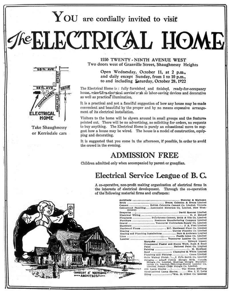 Electric Home\' invite October 1922 - 1550 West 29th Avenu…   Flickr