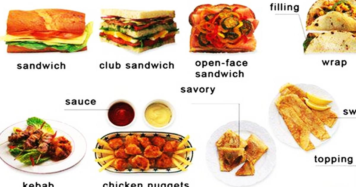 "English Words for ""FAST FOOD"" 5"