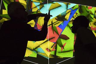 Los Alamos scientists observing a dfnWorks simulation.