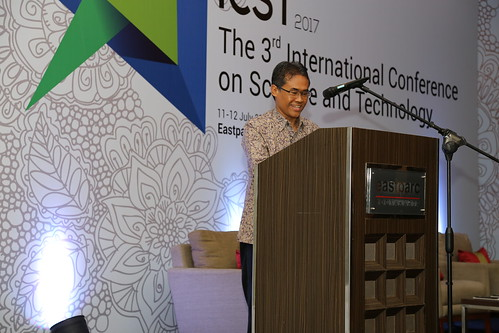 Prof. Panut Mulyono gives his welcoming remarks, 1 | by International Conference on Science and Technology