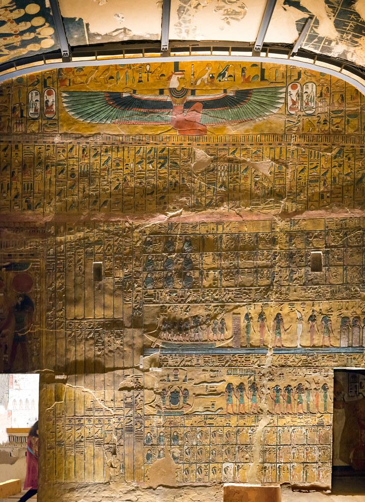 kv17  the tomb of seti i  burial chamber j