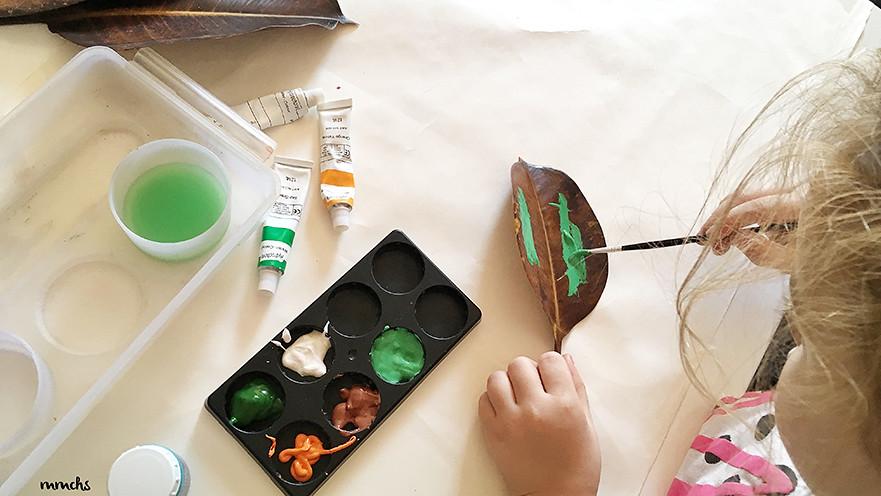 manualidades infantiles con hojas secas