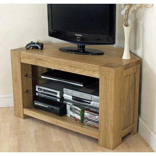 Kuba Solid Oak Corner Tv Cabinet Www Oakfurnitureking Co U Flickr