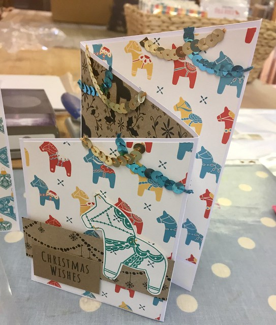 StickerKitten Christmas 2017 range - Dala Horse - workshop at the Mulberry Bush, Thatcham