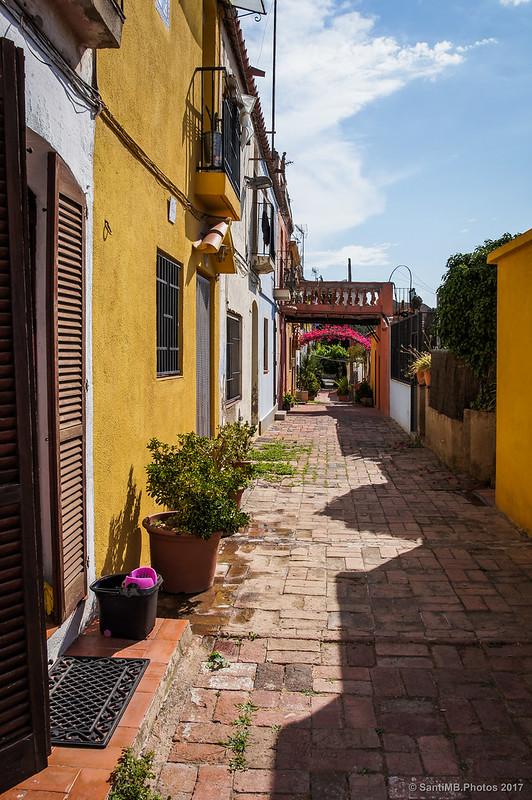 Carrer d'Aiguafreda en el barrio de Horta