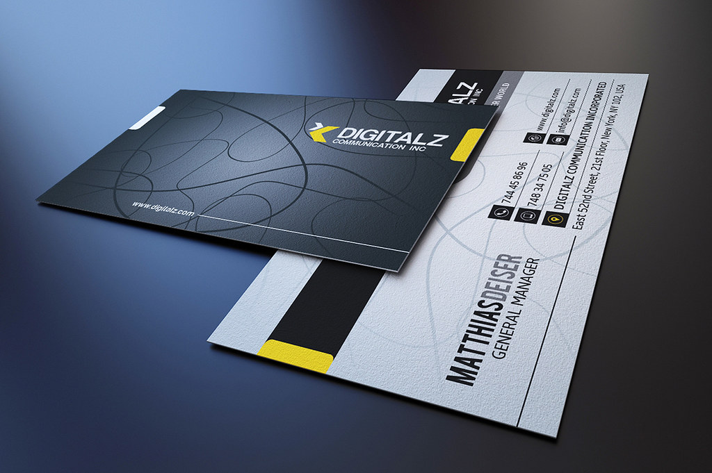 Modern Corporate Business Card Template | DOWNLOAD THE TEMPL… | Flickr