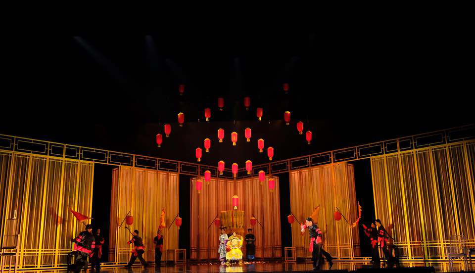 Set of the Forbidden City -- Perspective | Photo Credits: Singapore Repertory Theatre