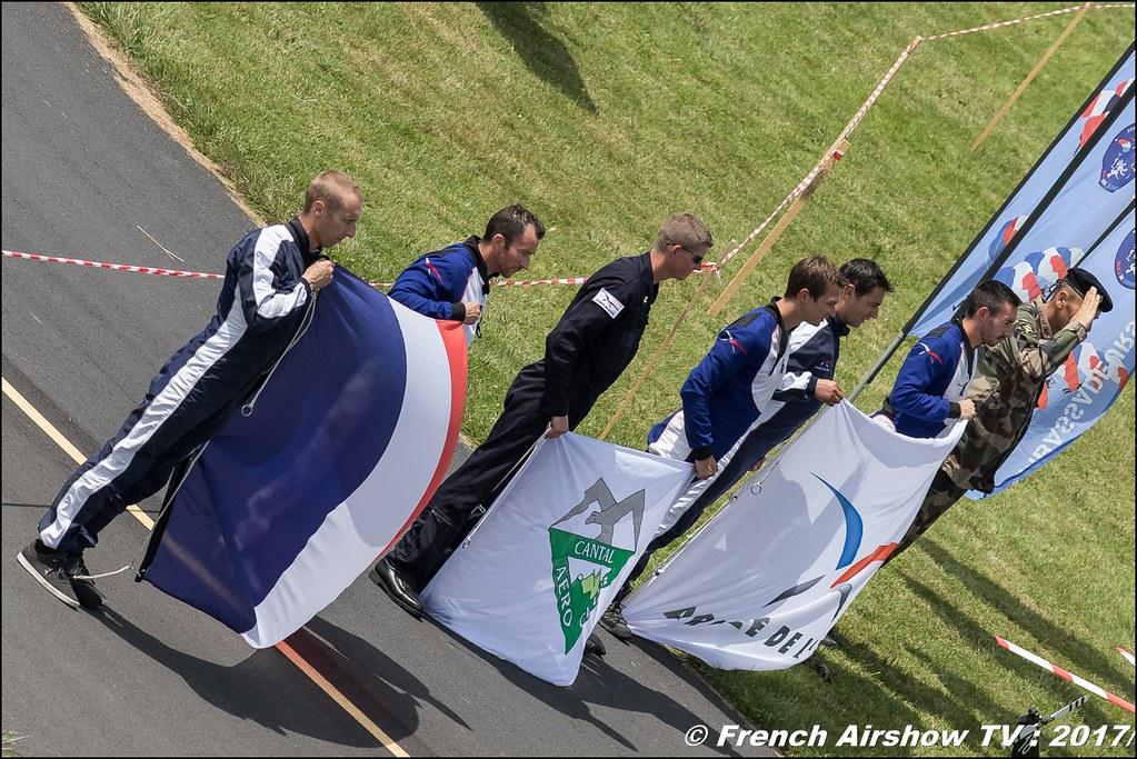 Ambassadeurs parachutistes de l'armée de l'air ,JPO Aurillac 2017 , Meeting Aerien Aeroclub du cantal 2017
