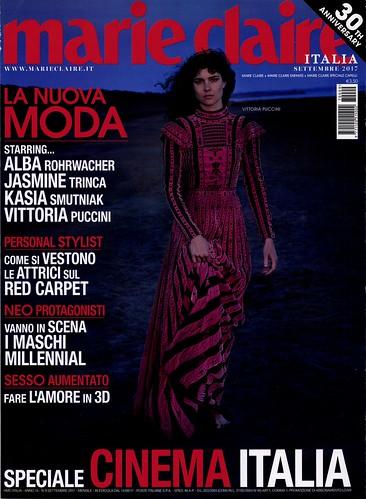 Marie Claire Settembre 2017 Vittoria Puccini Angelo Vintage