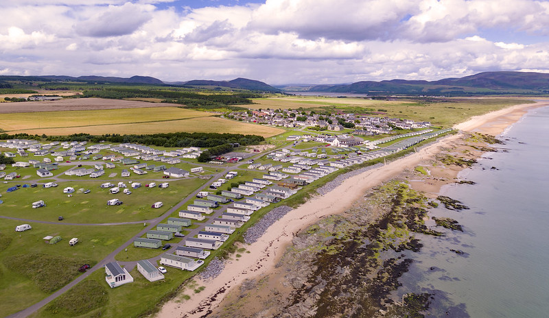 Above A High Oblique Aerial Image This Of Caravan Site At Embo Sutherland