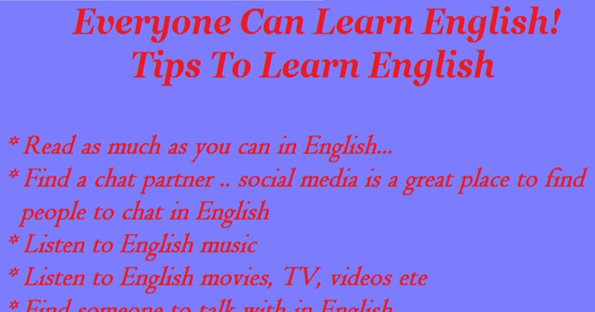 Tips & Strategies for Improving Your English 5