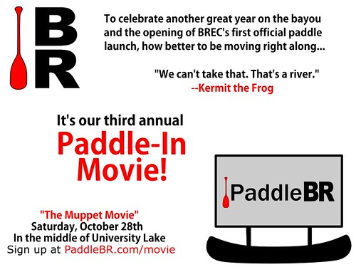 Paddle-In Movie sign
